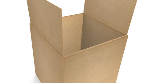 Cardboard Box with Zoom Stock Video Footage