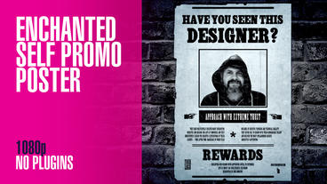 Enchanted Self Promo Poster After Effects Template