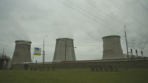 water cooling towers Stock Video Footage
