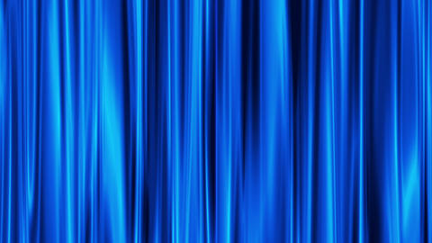 Blue Curtains open, white background Stock Video Footage