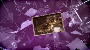 Glass Debris After Effects Template