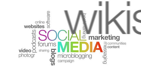 Social Media Stock Video Footage