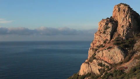Cloudy sky over the mountains and the sea. Balaklava, Crimea, Ukraine Footage