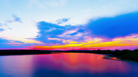Sunrise at the lake Stock Video Footage