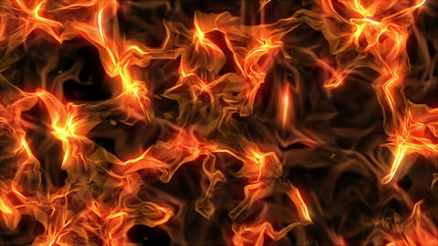 Fire, Computer Generated, Loop Animation
