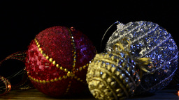 Christmas baubles decorations Stock Video Footage