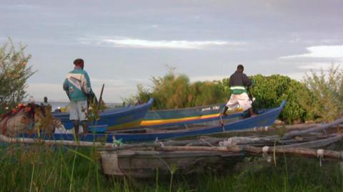 African fishermen Stock Video Footage