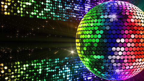 Mirror Ball 2 x 4 SP B Mb 3 HD Stock Video Footage