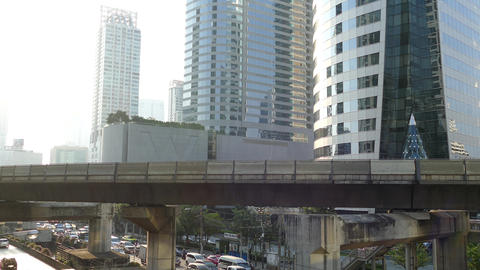 Time lapse from traffic in Bangkok Footage