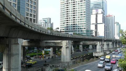 Traffic at Sathon Tai Road and Sathon Nuea Road Footage