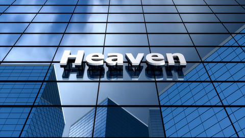 Heaven building, humour, time-lapse, blue sky, glass reflection Animation