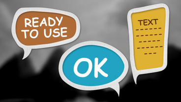 Speech Bubbles stock footage