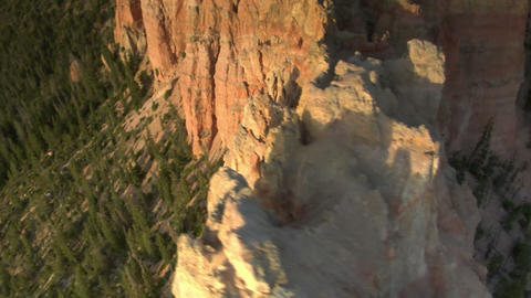 Aerial shot of bryce canyon national park pass over rugged cliffs Footage