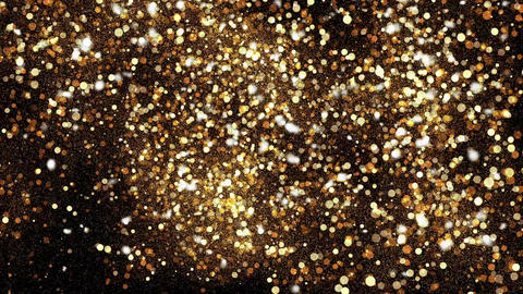 Abstract background with shining bokeh sparkles. Gold particles glitter Footage