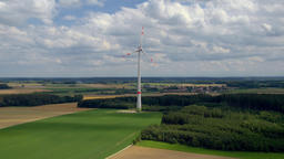 Wind power plant near Mammendorf, Bavaria, Germany, Europe Footage