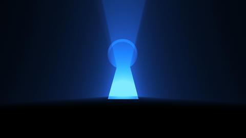 A keyhole with bright light Bild