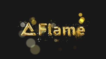 Gold particle Logo Plantilla de After Effects