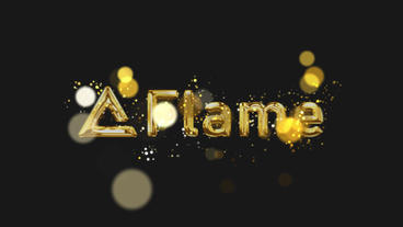 Gold particle Logo After Effects Template