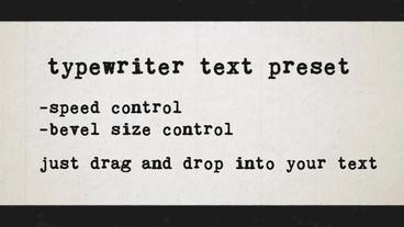 Typewriter text preset Plantilla de After Effects