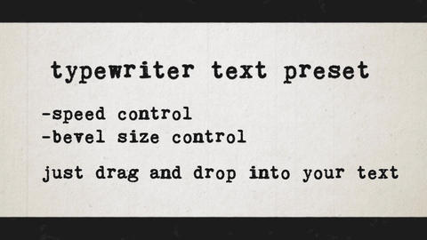 Typewriter text preset After Effects Template