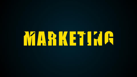 Marketing text. Liquid animation background ภาพวิดีโอ