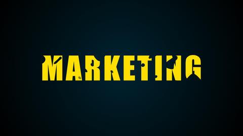 Marketing text. Liquid animation background 영상물