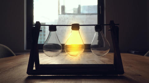 Think different bulb concept . Business,education or innovation concept ภาพวิดีโอ
