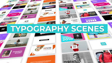 Typography Scenes Premiere Pro Template