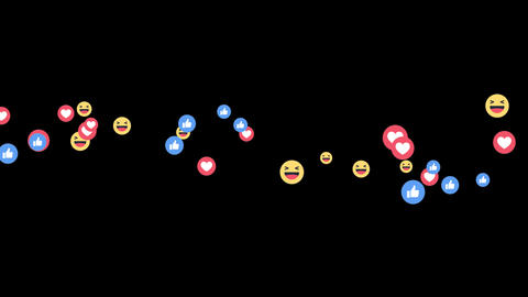 Facebook Live Reactions -LIKE-LOVE-HAHA Animation