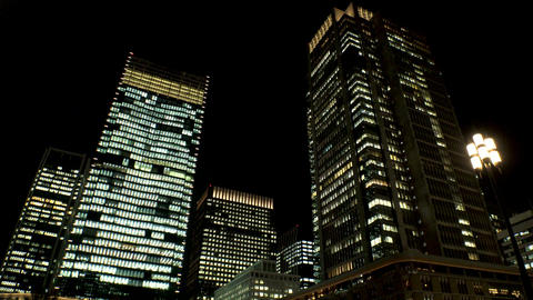 JAPAN TOKYO building in front of Tokyo train station GIF