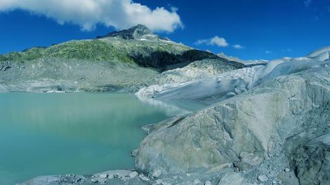 Glacier landscape scenery peaceful nature background melting ice background Footage