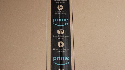 Amazon Prime Cardboard Box Opening Archivo