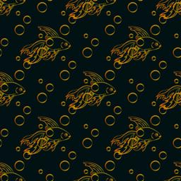 Goldfish seamless pattern Vector