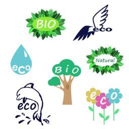 eco logo set Vector