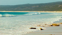 Waves Washing Ashore at Hamelin Bay Beach in Australia's South West Footage