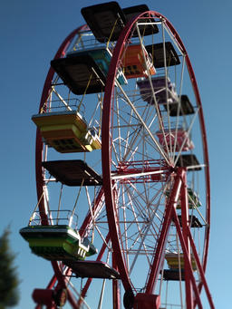 Colorful Ferris wheel Photo