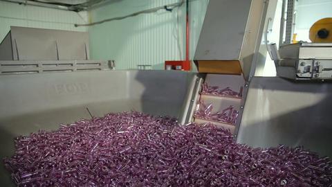 Plastic molding bottling factory Footage