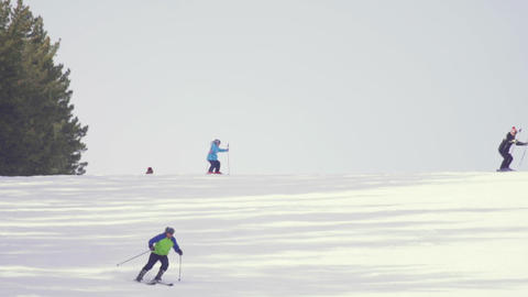 Tourists relax at the mountains ski resort 영상물
