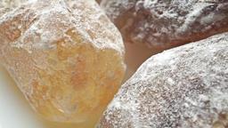 Macro dolly shot of brown sugar crystals Live Action