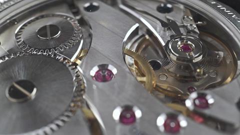 Swiss made wrist watch movement, macro video Footage