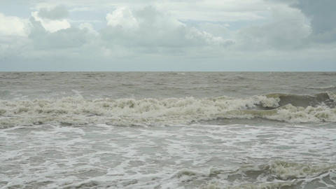 Slow motion video of sea in bad weather Footage