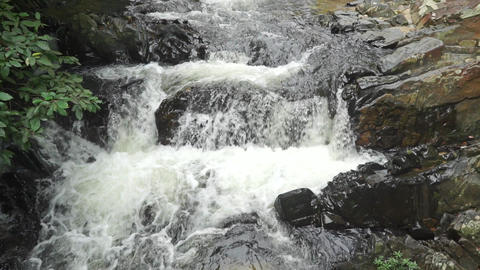 High waterfall, slow motion video Footage