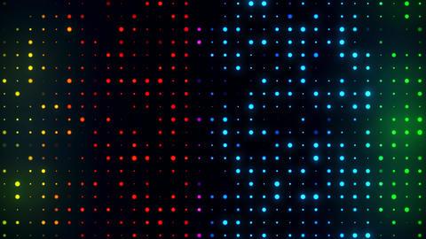 Colorful Glowing Digital Dots Code VJ Loop Motion Background V2 Animation
