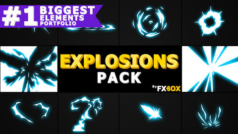 Energy Explosions And Transitions After Effects Template