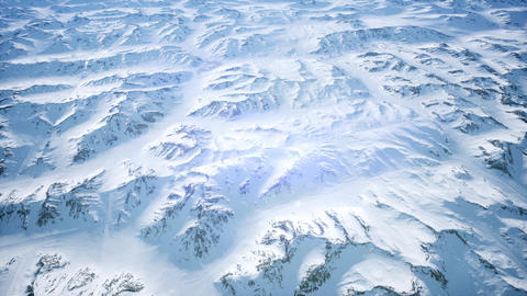 Polar Snow Rocky Mountains Ridges In a cold polar region Footage