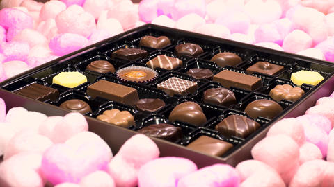 Chocolate for Valentines day Footage