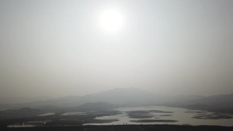 Reservoir aerial radiography DJI 0073 Footage