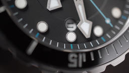 Moving second hand of a wrist watch. Macro shot Footage