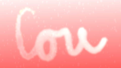 love, animated text Archivo