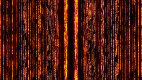Golden Glowing Matrix GridLines VJ Loop Motion Background Animation